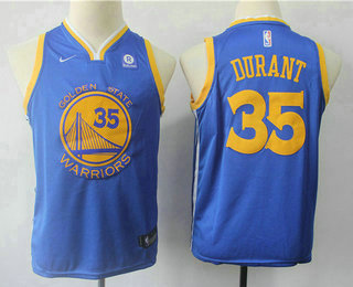 45438dde5425 Youth Golden State Warriors  35 Kevin Durant Blue 2017-2018 Nike Swingman  Rakuten Stitched NBA Jersey