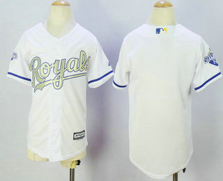 f4fa36327 Youth Kansas City Royals Blank White World Series Champions Gold Program  Jersey