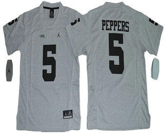 buy online 8b70e 8c39e Youth Michigan Wolverines #5 Jabrill Peppers Gridiron Gray ...
