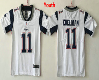 2823bc39b76 Youth New England Patriots  11 Julian Edelman White 2017 Vapor Untouchable  Stitched NFL Nike Limited Jersey