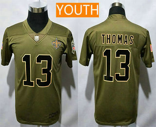 order youth new orleans saints 13 michael thomas olive 2017 salute to  service stitched nfl nike edf7ae3a6