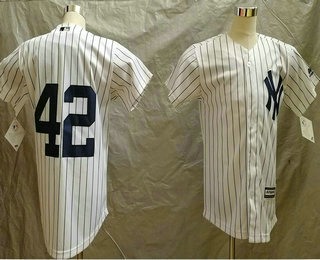 newest collection 45e5b ae5e7 Youth New York Yankees #42 Mariano Rivera No Name White Home ...