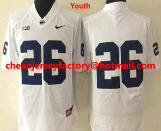 on sale f9944 4d137 Youth Penn State Nittany Lions #26 Saquon Barkley No Name ...