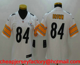 10e204c3c30a Youth Pittsburgh Steelers #84 Antonio Brown White 2017 Vapor Untouchable  Stitched NFL Nike Limited Jersey