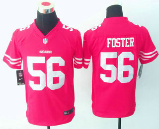 f29694ed0 Youth San Francisco 49ers  56 Reuben Foster Red Team Color Stitched NFL  Nike Game Jersey